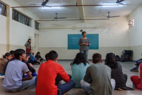Young people participate in a sexuality education session run by the YP Foundation. Credit: Smita Sharma for IWHC via Flickr (CC BY 2.0)