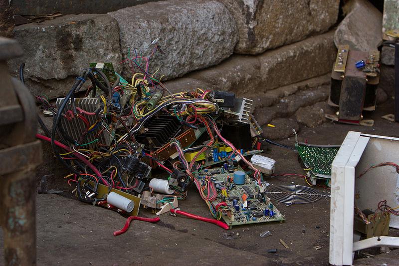 A photo of electronic waste taken in Bengaluru