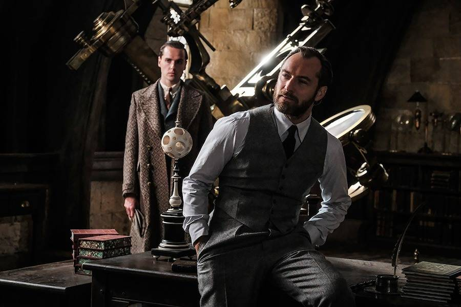 A photo of Jude Law playing young Professor Albus Dumbledore