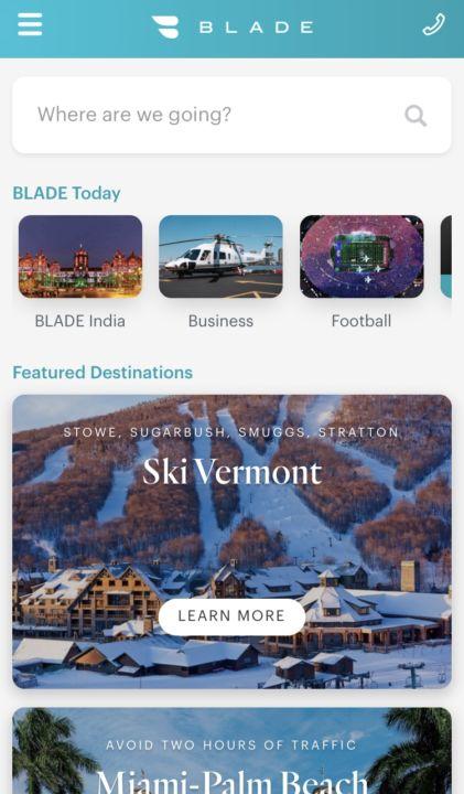 A screenshot of the Blade app