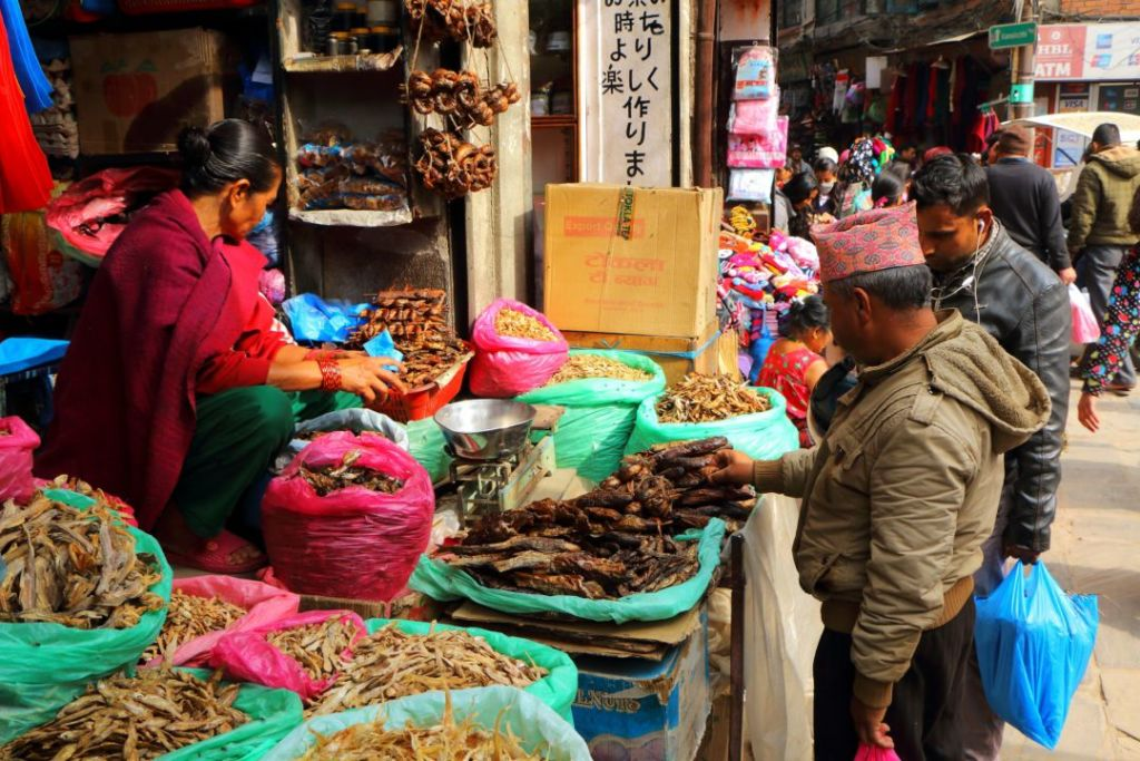 A photo from a Nepalese market