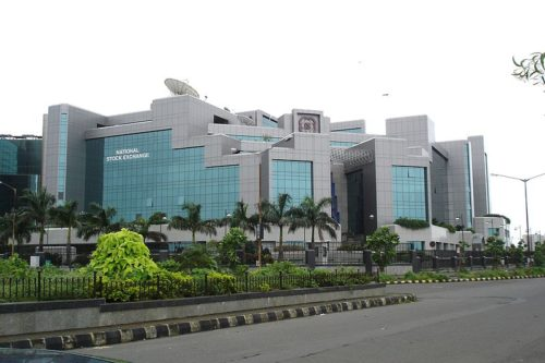 A public domain photo of the NSE building in Mumbai