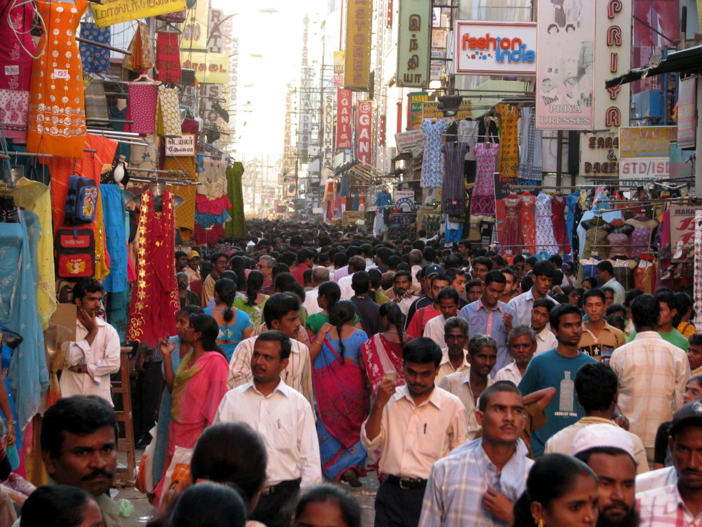 A busy street in Chennai