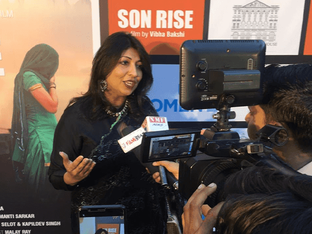 Vibha Bakshi at the screening of Son Rise. Credit: Son Rise/Twitter